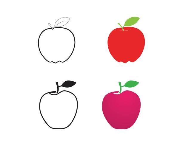 Apple-Vektorillustrationsdesign vektor