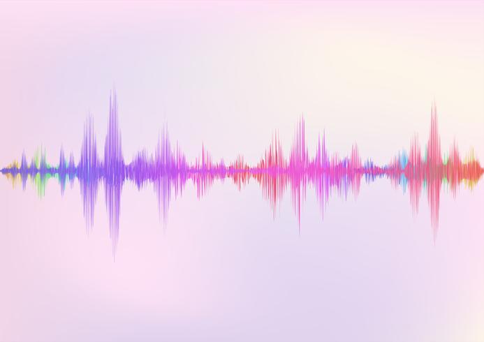 Abstrakter digitaler Entzerrer, Schallwelle-Musterelementhintergrund des kreativen Designs. vektor