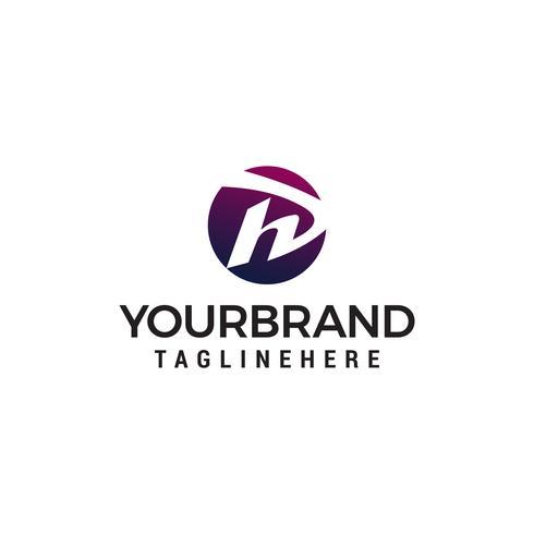 Buchstabe h Logo Design Konzept Vorlage Vektor
