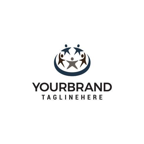 Menschen Sterne Logo Design Konzept Vorlage Vektor