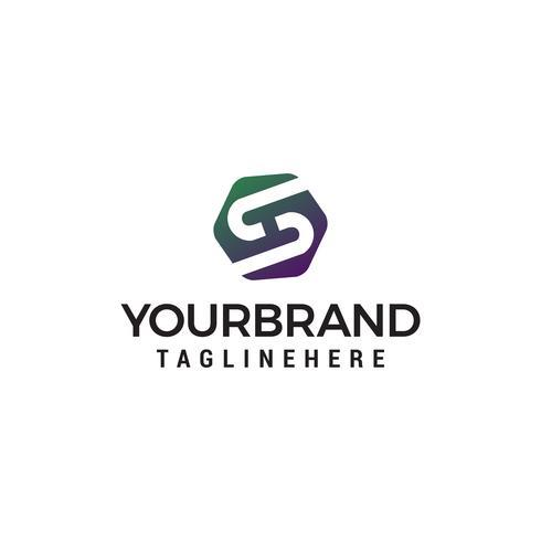 Buchstabe s Logo Design Konzept Vorlage Vektor