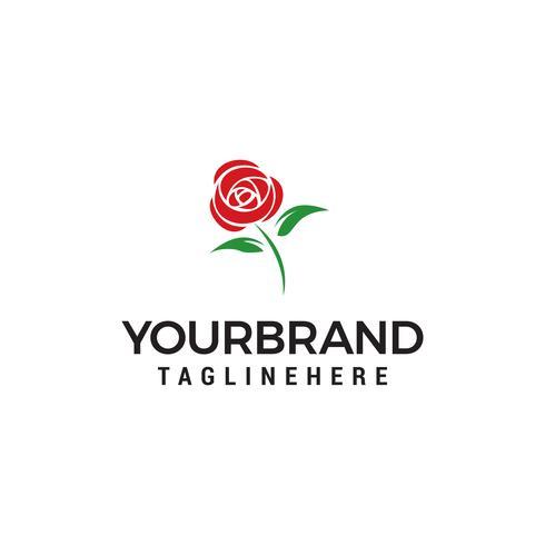 blomma ros logo design koncept mall vektor