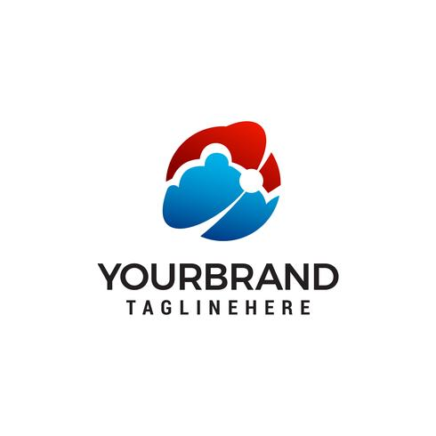 Cloud-Technologie-Logo-Design-Konzept Vorlage Vektor