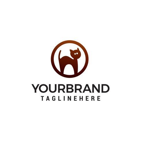 katt logotyp design koncept mall vektor