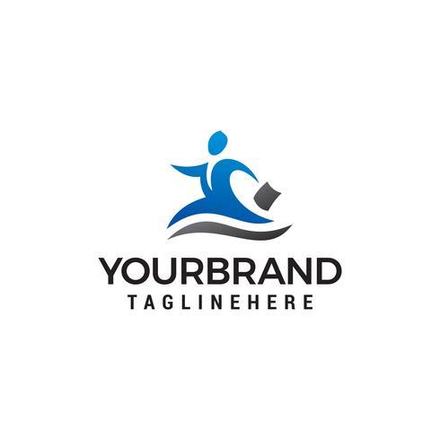 Affärsmän logo design koncept mall vektor
