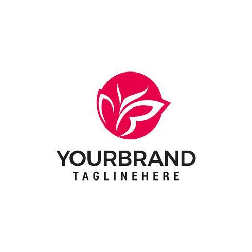 Vektor Schmetterling abstraktes Logo entwirft Vorlage