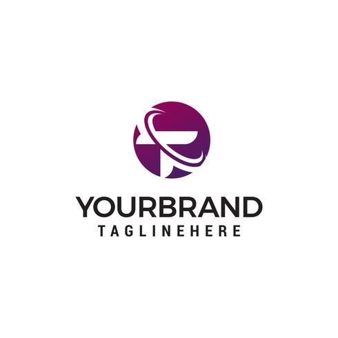 Buchstabe t Logo Design Konzept Vorlage Vektor