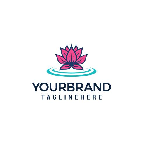 Lotus Flower Logo Beauty Spa-Salonlogo-Konzept des Entwurfes vektor