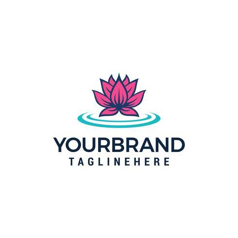 Lotus Flower Logo Skönhet Spa salong logo design koncept vektor