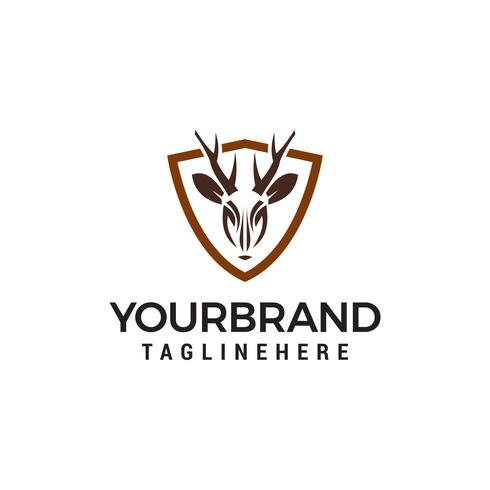 Hirsch Schild Logo Design Konzept Vorlage Vektor