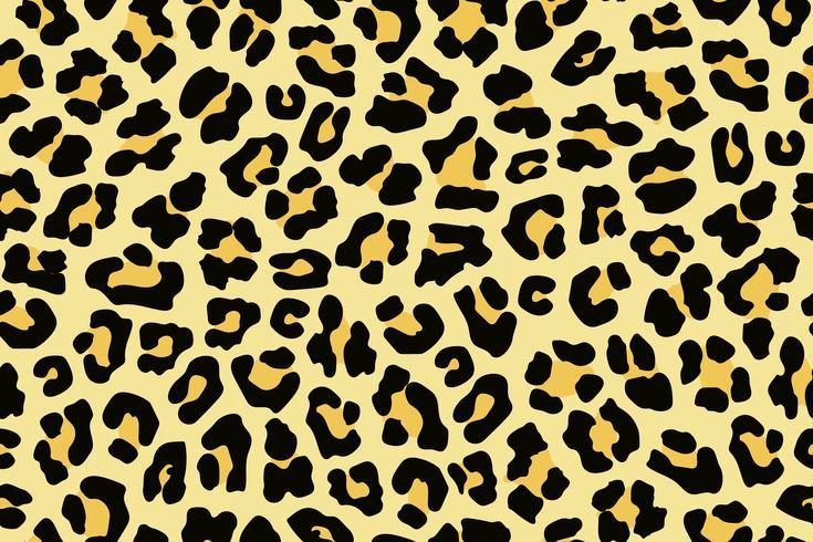Leopard hud sömlös bakgrund på vektor grafisk konst.