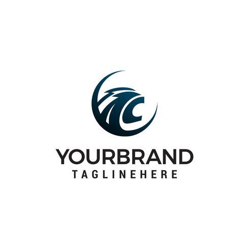 Kopf Panther Logo Design Konzept Vorlage Vektor