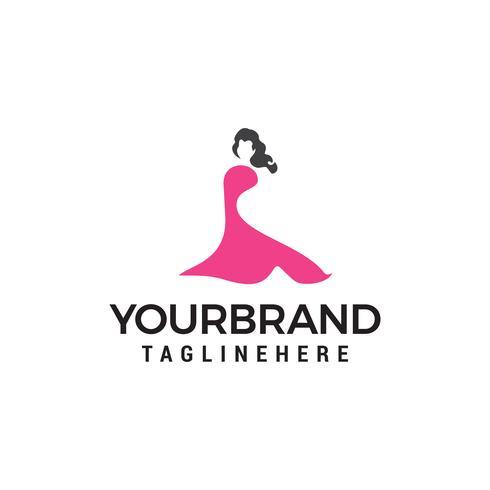 Schönes Modefrau Logo entwirft Schablone vektor