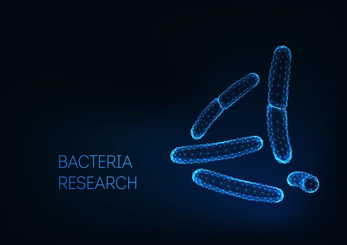 Mikroskopiska baciller bakterier acidophilus, salmonella, laktobacillus. Probiotika. vektor