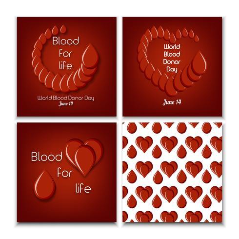 Världs bloddonationsdag fastställd vektor