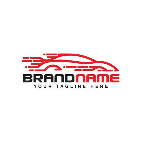snabb bil logotyp automotive logotyp mall vektor