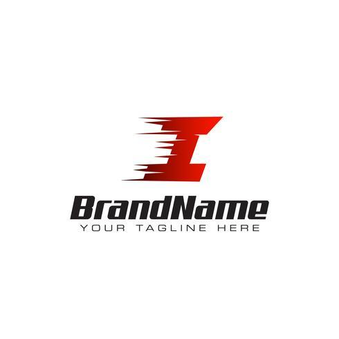 Letter Initial I Speed Logo Design Mall vektor
