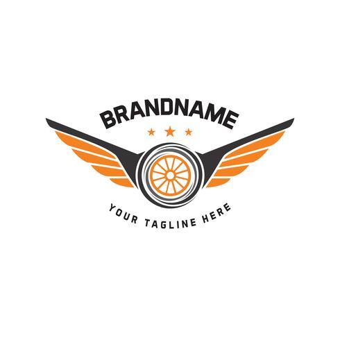 Bilhjul logotyp mall vektor design vintage stil. auto däck logo vektor