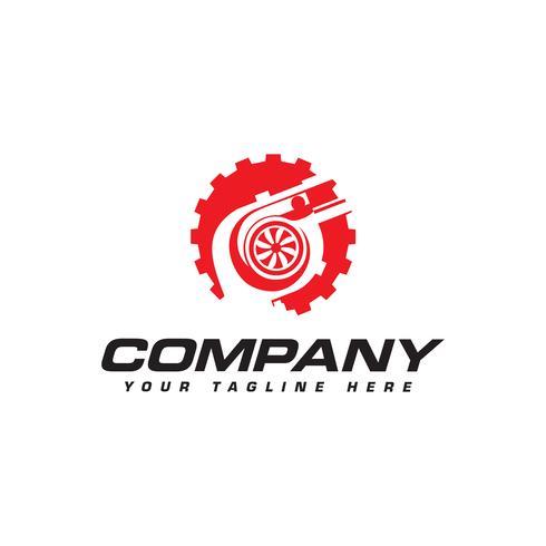Turbolader und Getriebelogo. Automotive Leistungslogo vektor