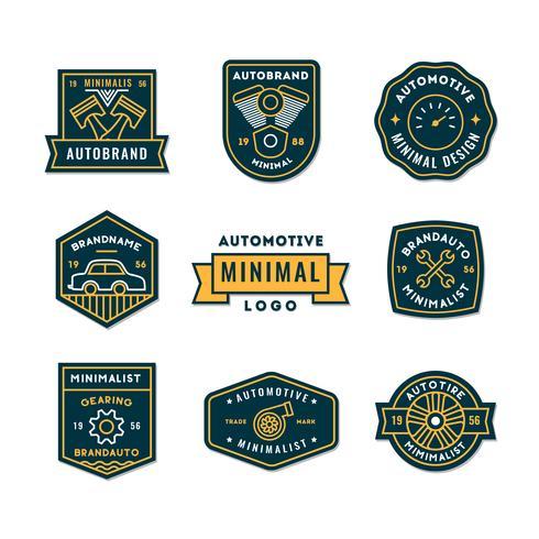 Sats med minimal automatisk logotyp eller ikon i högsta kvalitet vektor