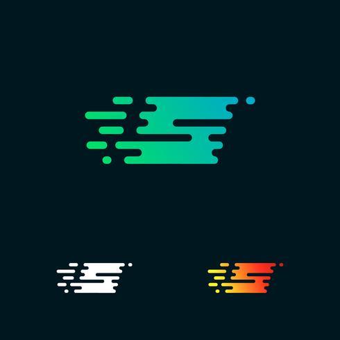 brev S modern hastighet former logo design vektor