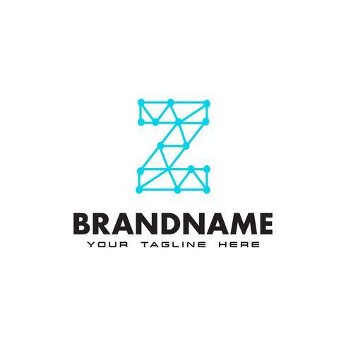 Letter Z dot nätverksanslutning logotyp Design Mall vektor