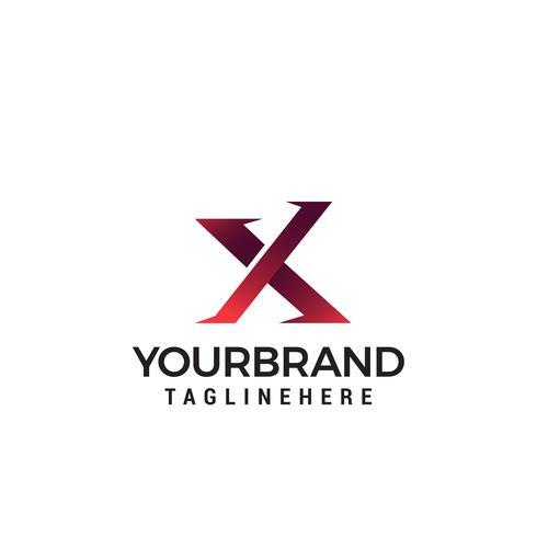 Logoikonen-Designschablonenelemente des Buchstaben X vektor