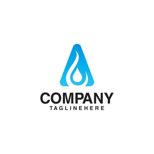Wassertropfen Anfangsbuchstabe ein Logo vektor
