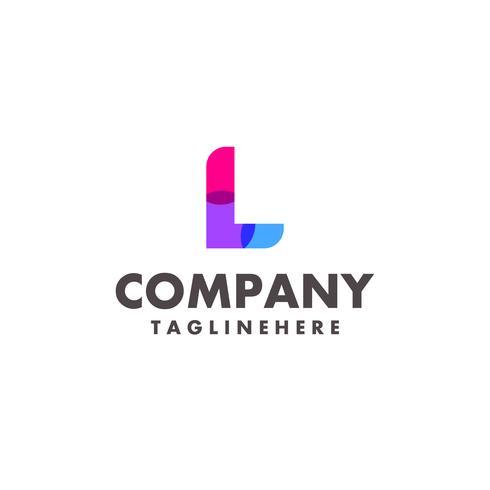 abstrakt färgstarkt brev L-logotyp design för företag med modern neonfärg vektor