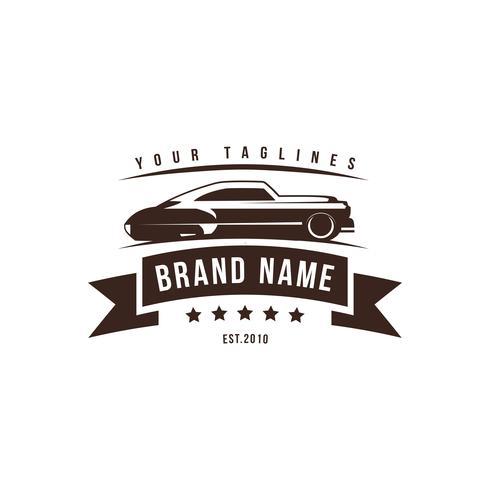En mall av klassisk eller vintage eller retro bil logotyp design. vinta vektor