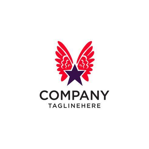 Sternflügel Logo Symbol Designelemente Vorlage vektor