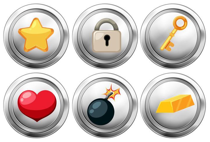 Set av tecknad ikoner vektor