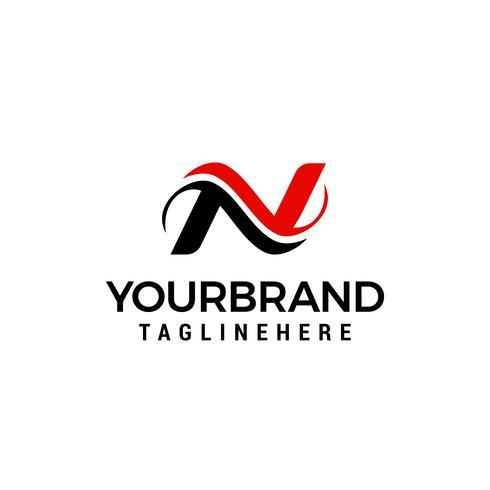 Logotyp för mall för designkonceptet Letter N vektor
