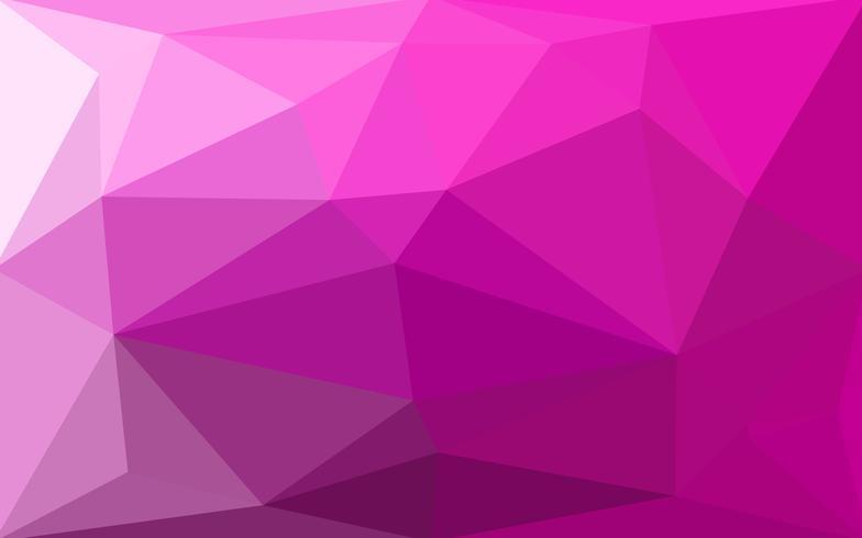 Purpurfärgad magenta abstrakt geometrisk skrynklig triangulär låg polystylgradient illustration grafisk bakgrund. Vektor polygonal design för ditt företag.