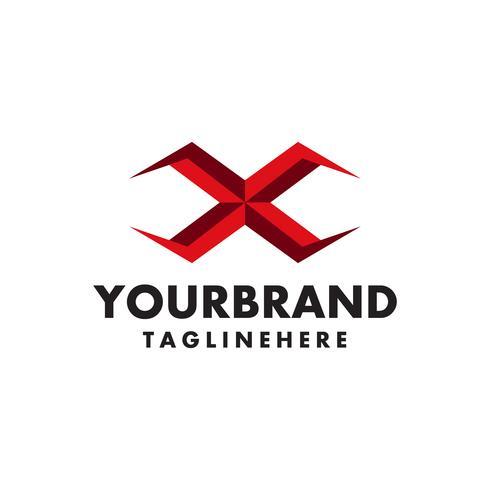 attraktiv Letter X vektor logosymbol.
