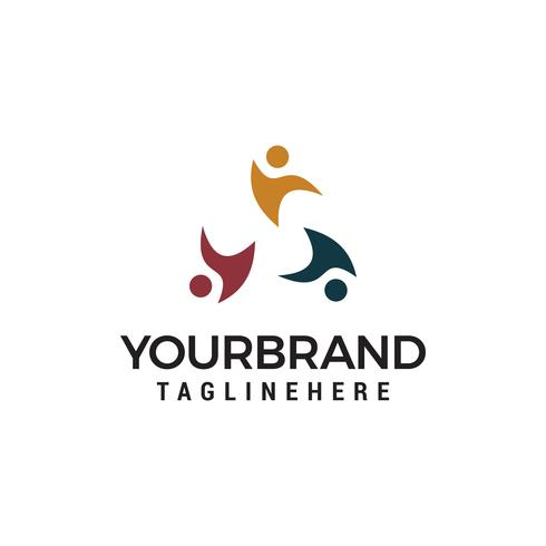 Social Relationship Community Logo Vorlagendesign vektor