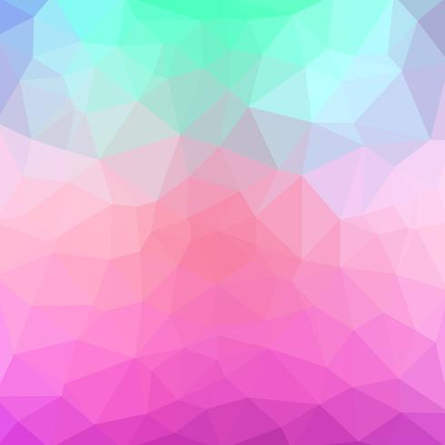 vektor abstrakt oregelbunden polygonal bakgrund - triangel låg poly mönster - ljus baby pastellfärger
