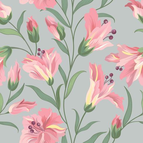 Nahtlose Blümchenmuster. Blumen Hintergrund. Tapete mit Blumen blühen. vektor