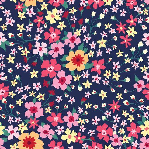 Blommigt sömlöst mönster. Blomma bakgrund. Blomdra tapeter med blommor. vektor