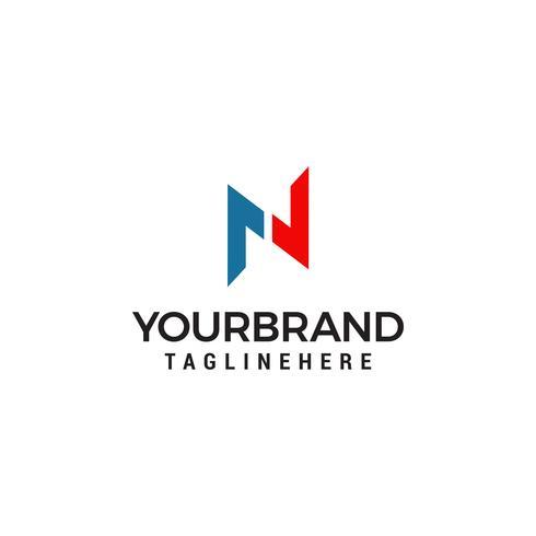 Buchstabe N Logo Vorlage Vektor