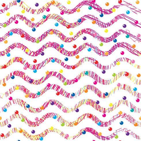 Abstrakt våg sömlöst mönster. Snygg geometrisk bakgrund. Vågig linje dekorativa tapeter. vektor
