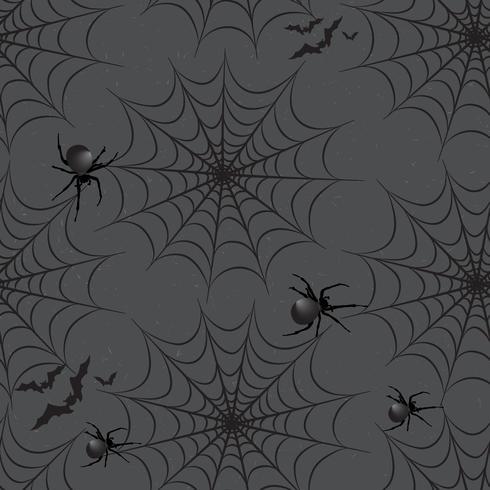 Halloween nahtlose Muster. Feiertagshintergrund mit Schläger, Spinne, vektor