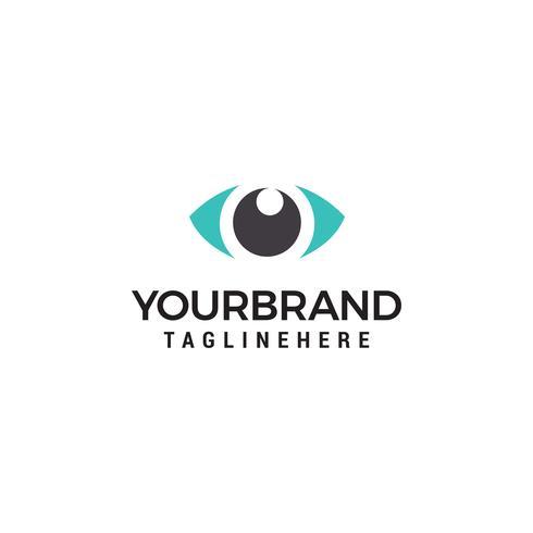 Kreatives Augenkonzept Logo Design Template vektor
