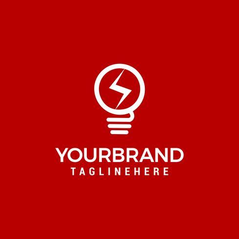 elektrisk glödlampa logotyp och ikon Vector design mall