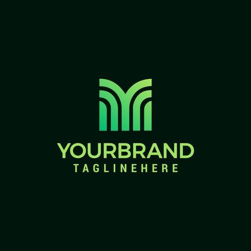 Letter M logo design mall vektor