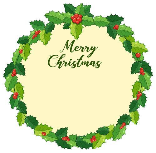Julkortdesign med mistletoes vektor