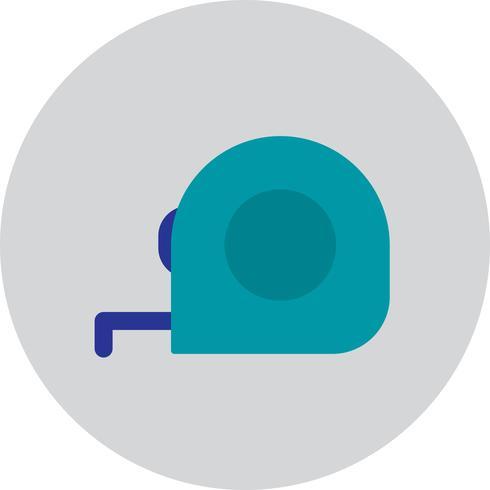 Vektor-Maßband-Symbol vektor
