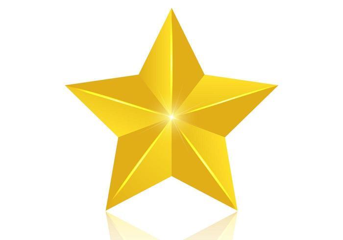 3D Golden Star Vektor