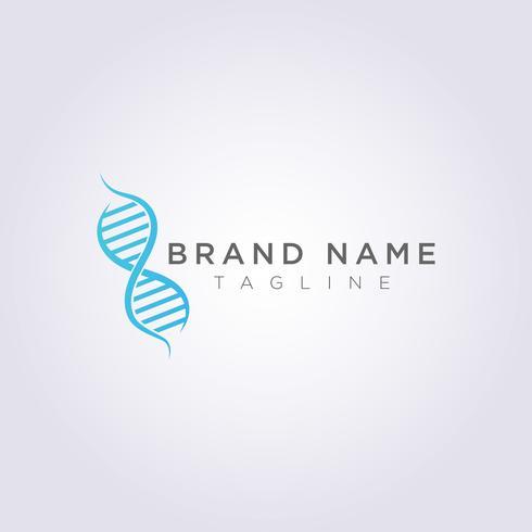 Symbol Ikon Vector Logo Design DNA Genetisk Molekylär Kedja