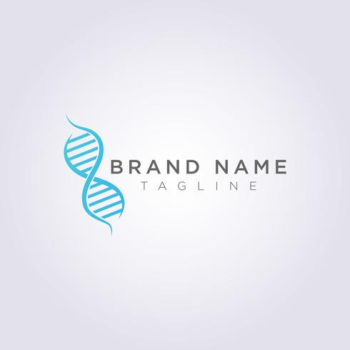 Symbol-Ikonen-Vektor Logo Design DNA Genetic Molecular Chain vektor